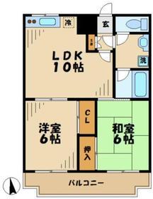 だるま第一ビル4階Fの間取り画像