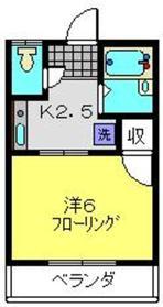 グリーンコーポ斉藤1階Fの間取り画像