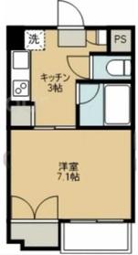 プレジール狛江1階Fの間取り画像
