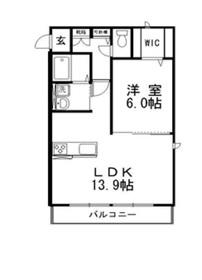 ウィステリア Ⅱ2階Fの間取り画像