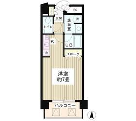 恵比寿駅 徒歩4分8階Fの間取り画像