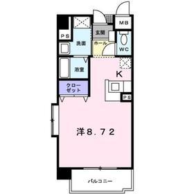 ベラルデ2階Fの間取り画像