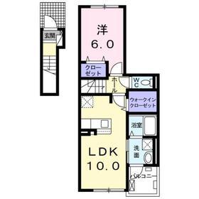 本厚木駅 バス32分「局前」徒歩4分2階Fの間取り画像