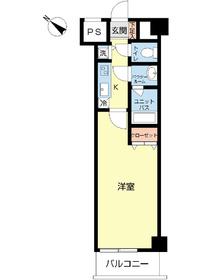 スカイコート板橋五番館1階Fの間取り画像