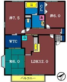 マークサウンドⅡ2階Fの間取り画像