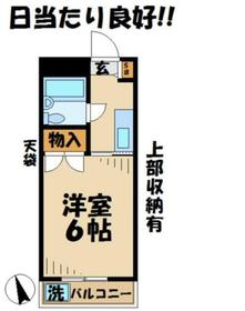 グランドール横倉1階Fの間取り画像