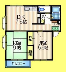 エステートピアベルデ3階Fの間取り画像