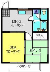 ハイツムラマツ2階Fの間取り画像