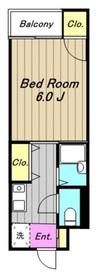 長田第二ビル2階Fの間取り画像