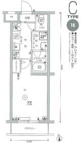 スカイコート多摩川壱番館4階Fの間取り画像