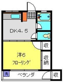 岡村ビル2階Fの間取り画像
