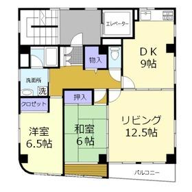 ジョウシャビル4階Fの間取り画像