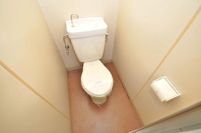 OMレジデンス八戸ノ里 清潔感のある爽やかなトイレ。誰もがリラックスできる空間です。