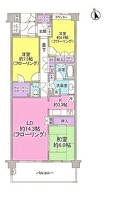 アークステージ若葉(ワカバ)2階Fの間取り画像