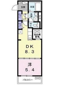 花小金井駅 徒歩17分1階Fの間取り画像