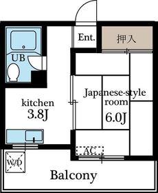 立川駅 徒歩13分4階Fの間取り画像