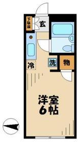 シャンルーネ2階Fの間取り画像