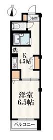 ハイムICHIRO2階Fの間取り画像