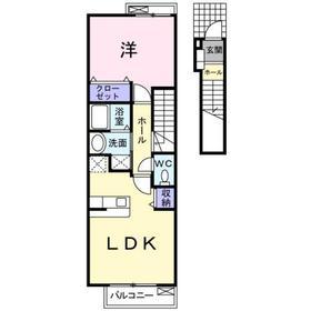 ゼフィール2階Fの間取り画像