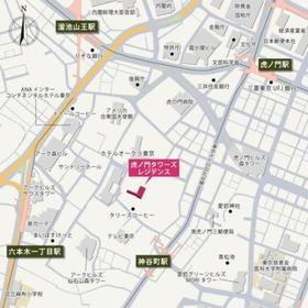 虎ノ門タワーズレジデンス案内図