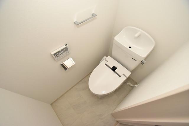 NEXT ONE 清潔感たっぷりのトイレです。入るとホッとする、そんな空間。