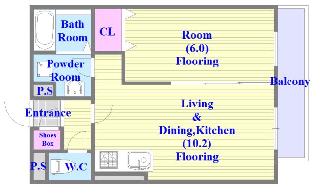 各部屋が余裕のある広さで、とてもゆったりとした間取りです。