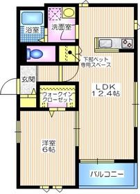 ピアナ ステラ1階Fの間取り画像