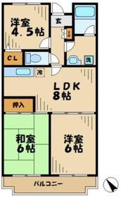 ラプランタン2階Fの間取り画像