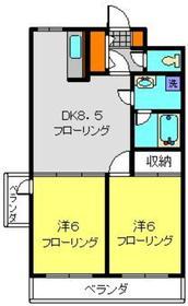 カーサエクレール1階Fの間取り画像