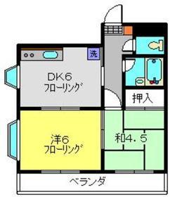 ミューズマンション4階Fの間取り画像