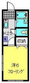 和田町駅 徒歩12分1階Fの間取り画像