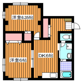 和光市駅 徒歩13分2階Fの間取り画像