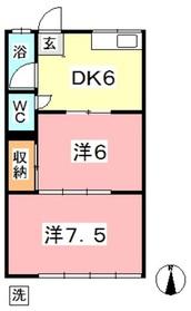 野田マンション B2階Fの間取り画像