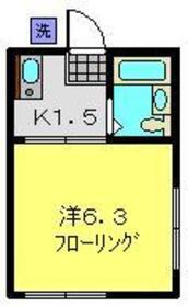 ハイツMIKI2階Fの間取り画像