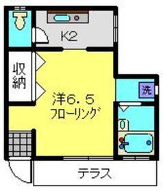 メゾン川村1階Fの間取り画像