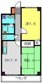 日野インタービル3階Fの間取り画像