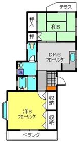 ザ・ヒルズA1階Fの間取り画像