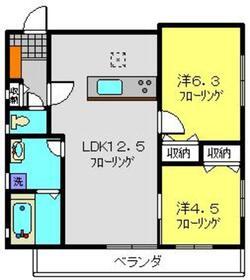 サニーウェル本宿V2階Fの間取り画像