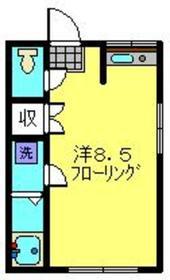 サカエヤハイツ1階Fの間取り画像