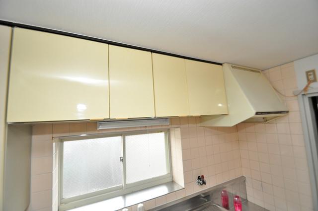 サンライフ若江東 キッチン棚も付いていて食器収納も困りませんね。