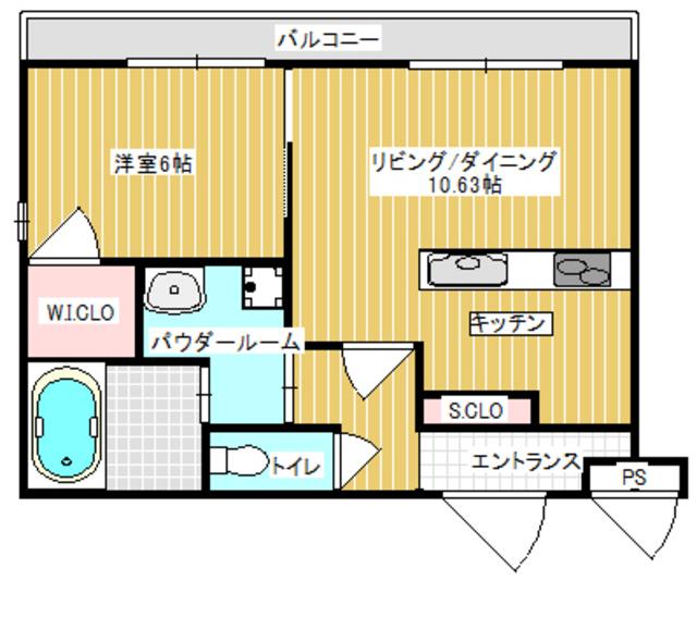 間口の広いお部屋が自慢です。設備もとても充実しています。