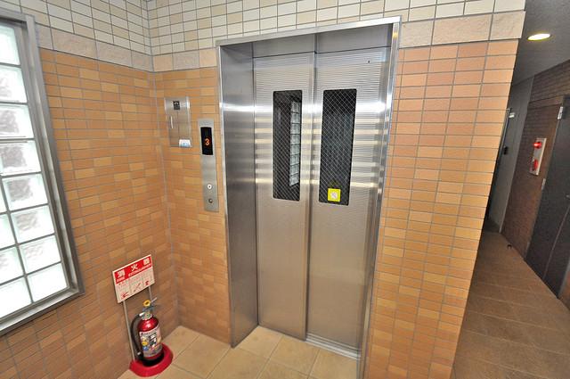 GRACE COURTⅡ 嬉しい事にエレベーターがあります。重い荷物を持っていても安心