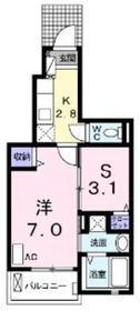 ラプレッソグロリア2階Fの間取り画像