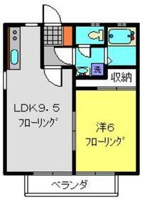 サンライト1階Fの間取り画像
