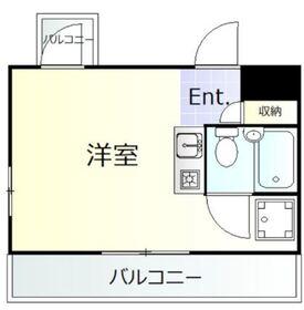 ツルミキイハイツ5階Fの間取り画像