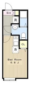 ルペールE1階Fの間取り画像