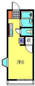 ハイム石川2階Fの間取り画像