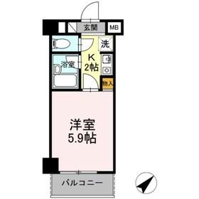 メゾン・ド・オヤマ2階Fの間取り画像