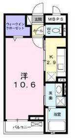 アンベリール2階Fの間取り画像