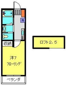 ヨコハマベイプリンスプリンセス2階Fの間取り画像